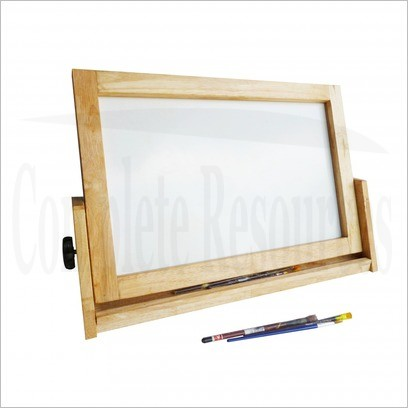 2 in 1 table activity board with stationary tray