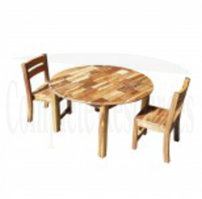 Medium Table and 2 Stacking Chairs