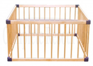Jolly Kidz timber playpen assembled domensions are 61 cm x 114cm x 114 cm
