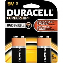Batteries - DURACELL COPPER TOP - 9V
