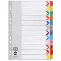 Marbig A4 Financial Year Tab Dividers