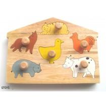 Animal Knob Puzzle