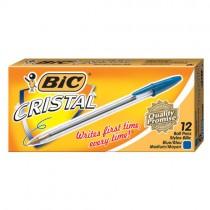 BIC Cristal Ballpoint Pen - Blue (Pk 12)