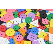Buttons Plastic Small Multi 250 GM/PK