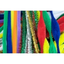 Chenille Stems (Pipe Cleaners) Assorted 300x6mm (Pk 150)
