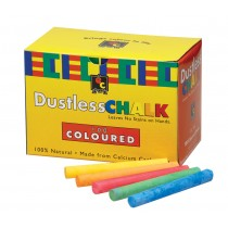 Coloured Classroom Dustless Chalk