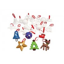 Christmas Decofoam Ornaments Pack of 24