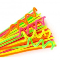 Chenille Stems (Pipe Cleaners) Neon Colours 300x6mm (Pk 100)