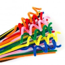 Chenille Stems (Pipe Cleaners) Standard Colours 300x6mm (Pk 100)