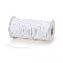 Face Mask Elastic White 2mm x 100 metres