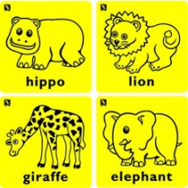 Kinda Rub - Elephant, Giraffe, Hippo and Lion