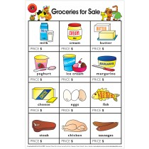 Groceries For Sale Poster