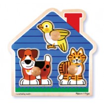 M&D - House Pets Knob Puzzle 3 Piece