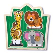 M&D - Jungle Friends Knob Puzzle 3 Piece