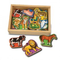 M&D - Animal Magnets In A Box of 20