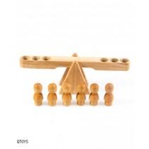 Natural Wooden Balancing Seesaw