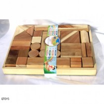 Natural Wooden Blocks 34pcs