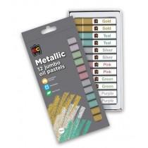 Jumbo Metallic Oil Pastels (12Pk)