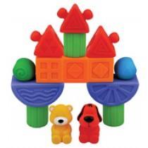 K's Kids Popboblocs Fun Park Soft Blocks 16pce