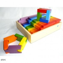 Rainbow Interlocking Blocks