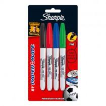 Sharpie Permanent Marker -  Fine Tip (Pk 4)