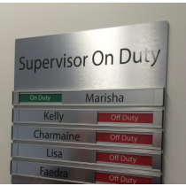 On Duty Supervisor Sign